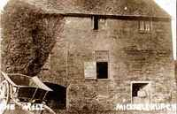 Michaelchurch Mill c. 1901, with the miller Charles Price at the door